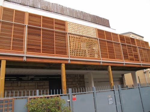 Garde Corps Bois Terrasse : g?n?rale avec les pare-vue en bois exotique que nous avons pos?s