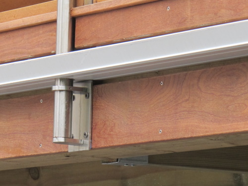 Terrasse tanche avec bac acier et platelage bois ip - Gouttiere pour balcon ...