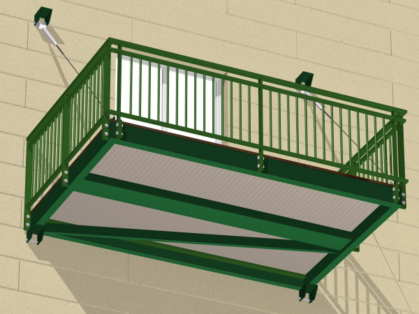 Comment construire un balcon en bois for Construire un balcon suspendu