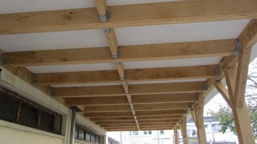 Terrasse étanche industrialisé immeuble ossature bois