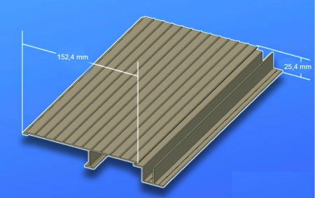 Lame de Terrasse en Aluminium pour terrasse étanche