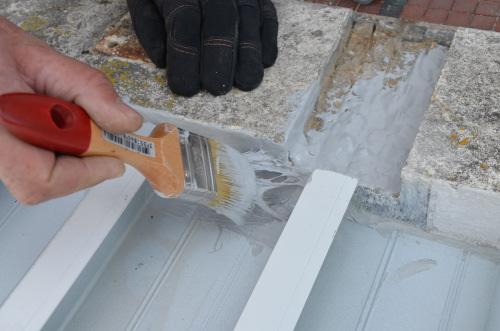 Platelage terrasse bois tanche bac acier - Bac en bois pour terrasse ...